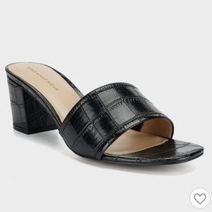 Who What Wear Faux Croc Mules